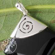 Silber Black Stone Anhänger