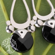 Earring Black Drop