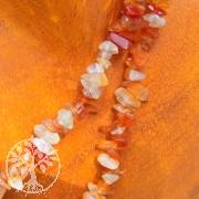 Karneol Splitterkette 85/90cm oder als Perlenstrang