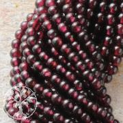 Granat Perlen Kugel 4mm A
