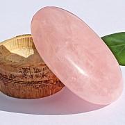 Rosa Quartz Soapstone AAA 60x40mm