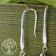 Ohrhaken Handgeformt  Echt Silber