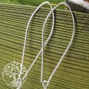Ohrhaken Lang Fein Design Ohrringzubehör 925 Silber