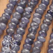Tansanit Kette Edelsteinkette Tansanitkette Button 3-4mm Silber 925 Verschluss