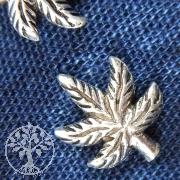 Silberohrstecker Hanfblatt 925 Silber