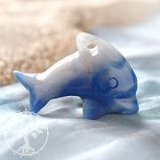 Delfin aus Blauquarz klein