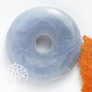Chalcedon Donut Anhänger 30mm ohne Bänderung