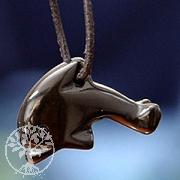 Delfin aus Onyx klein Anhänger aus Stein