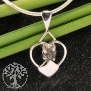 Diamant Herz Anhänger Rohdiamant Silber