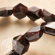 Granat Armband Groß Facettiert