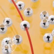 Zwischenperlen Silber 20er Packung 925 Glanz 1.2mm Perlenloch