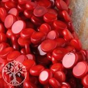 Red Coral Disc Bead 9mm 40cm