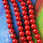 Coral Ball Glossy Beads