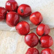 Coral Beads Jewelry Candied Apple