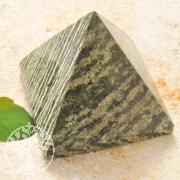 Serpentine Silver Eye Stone Pyramid