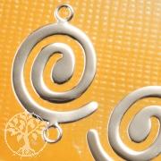 Zwischenspirale Silberspirale 925er Ohrringe Zwischenstück