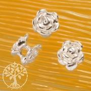 Rose Perle Zwischenteil Silber925 6mm Beidseitig