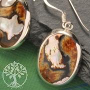 Silberohrhaenger Perlmutt Bunt Silber 925 Ohrringe