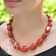 Genuine Gemstone Red Jasper Neklace 50cm