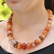 Gemstone Necklace Button Carnelian