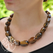 Tiger Eye Necklace tumbled stones 50cm