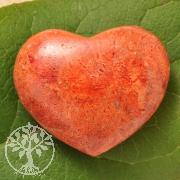 Herz Rote Koralle Handschmeichler 40x40