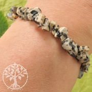 Dalmatiner Jaspis Armband mit kleinen Steinen