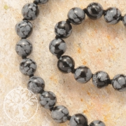 Snowflake-Obsidian Necklace 45/8