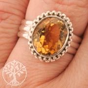 Citrin Ring Silber