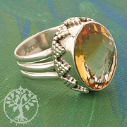 Citrine Silver Ring 925