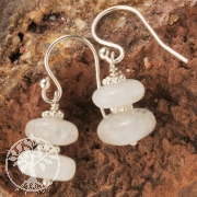 Rainbow Moonstone Earhook