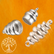 Magnetic Clasp Wave Sterlingsilver 925