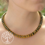 Green Amber Necklace Button