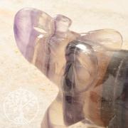 Fluorit Elefant Steingravur