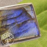 Labradorit Schmuck Anhaenger 24/25*18/19mm Silber 925 Fassung
