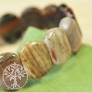 Versteinertes Holz Armband Oval Small