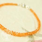 Mandarin Granat Armband facettiert