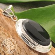 Onyx Obsidian Silver 925 Pendant