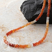 Opal Necklace Facetted Silver925 clasp Fire Opal gemstone beads.