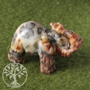 Gemstone 40mm Elephant Crazy Lace