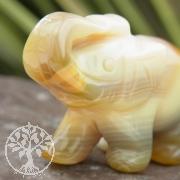 Achat Elefant Elefantenfigur Steinelefant Achat 50mm