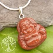 Roter Jaspis Buddha Anhänger Klein