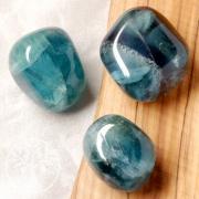 Blau Fluorit Trommelsteine