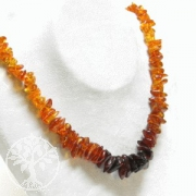 Amber Splitter Necklace gradient 70cm