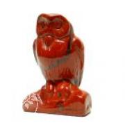 Eule aus rotem Jaspis ca. 40mm Naturstein kleine Eule