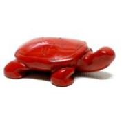 Schildi aus rotem Jaspis ca.39 mm