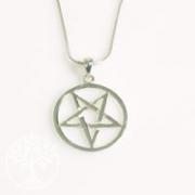 Silber Kreuz Pentagramm Anhaenger PE1