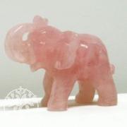 Elefant aus Rosenquarz groß ca. 100mm