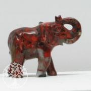 Elefant aus rotem Jaspis groß ca. 100mm