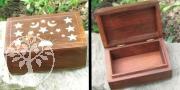 Wood- Box Sun/Moon Inlay